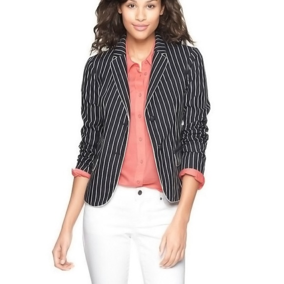 GAP Jackets & Blazers - Gap The Academy Blazer in Navy Pinstripe